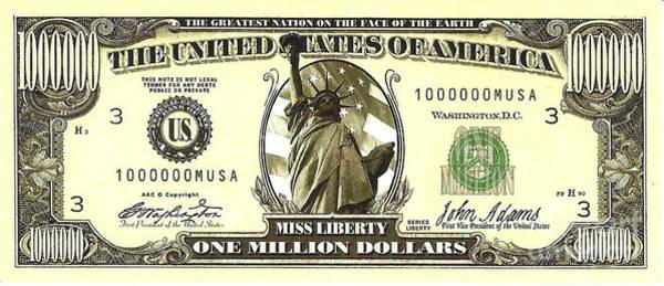 One Million Dollar Bill Art Print