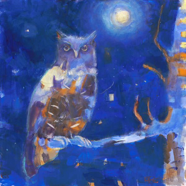 Nocturnal Wall Art - Painting - One Night In Taos by Kate Dardine