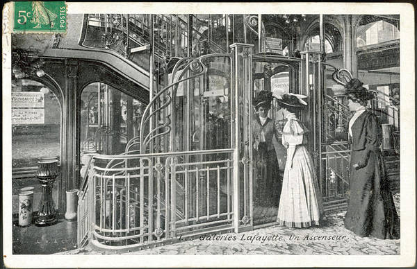 Galeries Lafayette Photograph - One Of The 'ascenseurs' At The by Mary Evans Picture Library