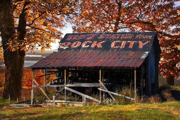 Nantahala Photograph - One Of The Famous See Rock City Barns by Debra and Dave Vanderlaan