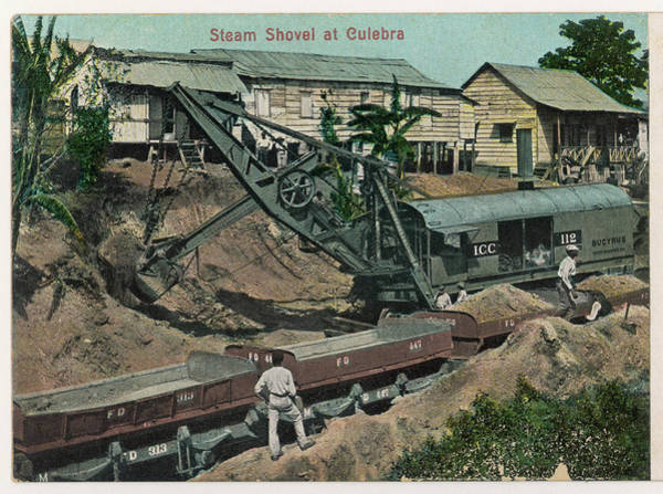 Capable Photograph - One Of The Massive Steam  Shovels by Mary Evans Picture Library