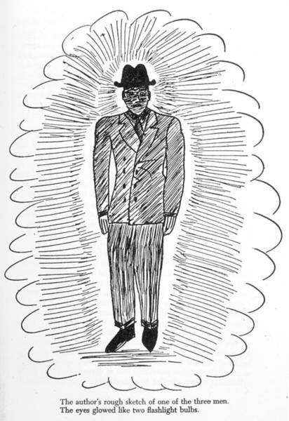 Folklore Drawing - One Of The Three Men In Black Who by Mary Evans Picture Library