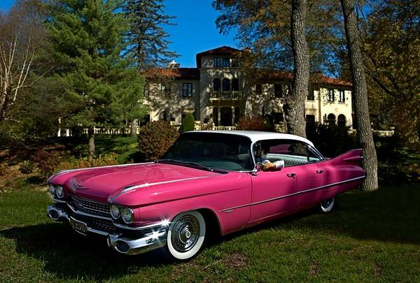 Photograph - One Pink Cadillac by Tim McCullough