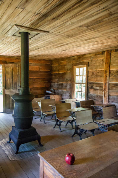 Photograph - One Room Schoolhouse by Mary Almond