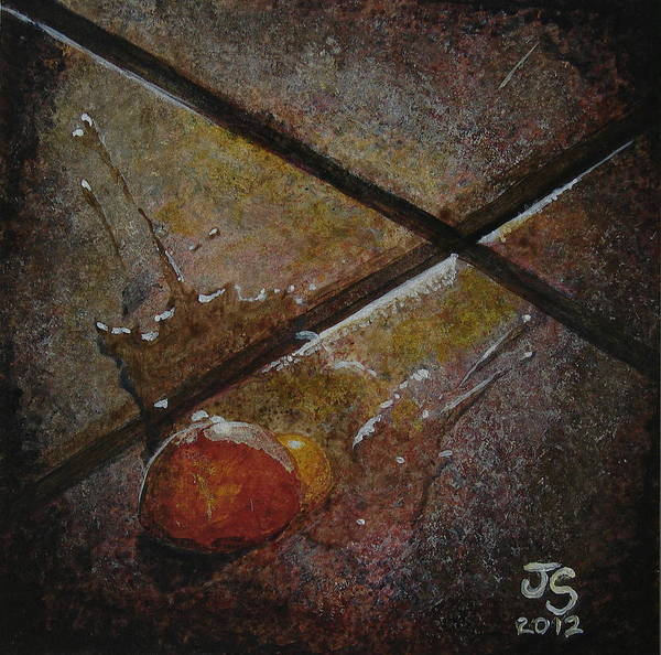 Broken Egg Painting - One Short Of A Dozen by J Trent Sunderland