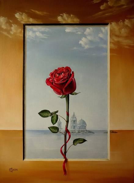 Magic Realism Painting - One Silent Moment by Svetoslav Stoyanov