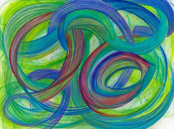 Mixed Colors Drawing - One Stupendous Whole-horizontal by Kelly K H B