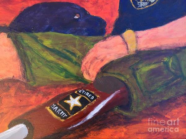 Service Dog Painting - One Team Two Heroes - 2 by Donald J Ryker III