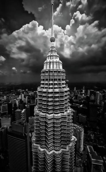 Aerials Photograph - One Tower by Amr A. Rahman