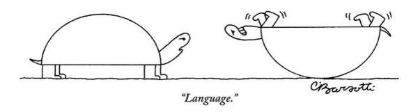 Stuck Drawing - One Turtle Is Seen Speaking To Another Turtle Who by Charles Barsotti