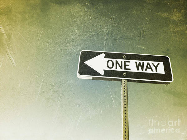 One Way Road Sign Art Print