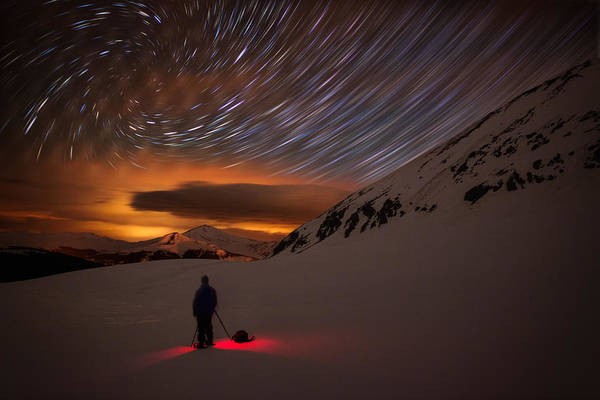 Copper Mountain Photograph - One With The Night by Mike Berenson