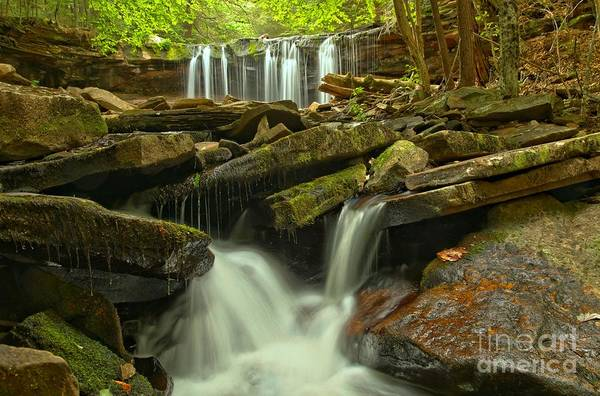 Photograph - Oneida Falls Multiple Cascades by Adam Jewell