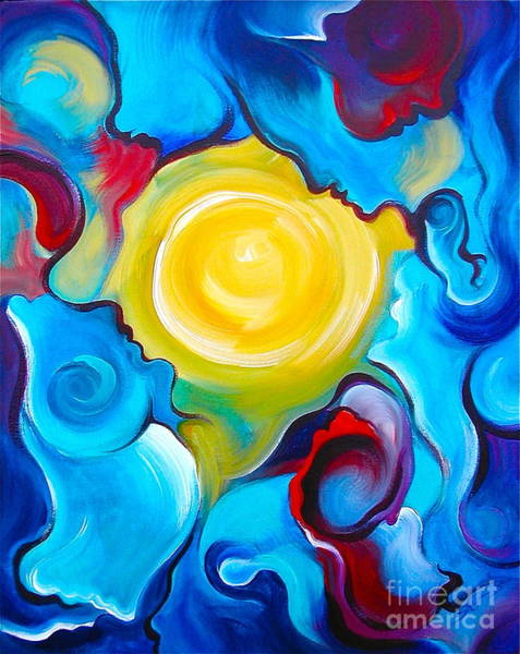 Merge Painting - Oneness by Gem S Visionary
