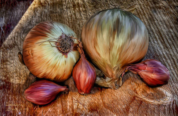 Painting - Onions And Scallions by Sharon Beth