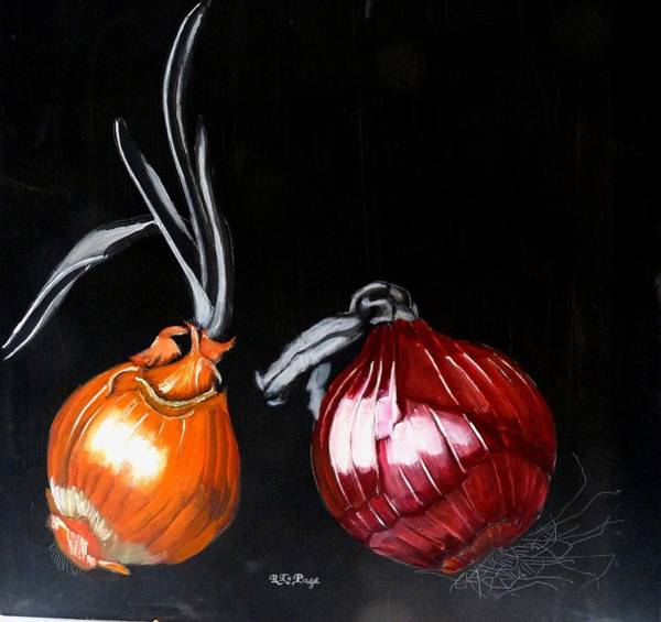 Painting - Onions by Richard Le Page