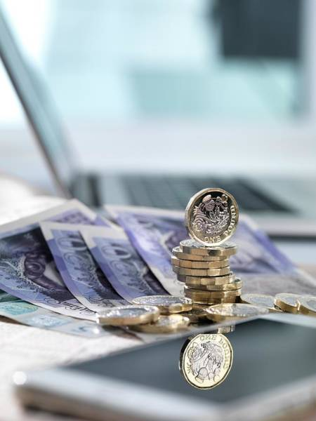 Legal Tender Photograph - Online Investments by Tek Image/science Photo Library