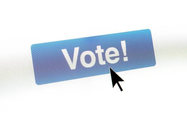 Poll Photograph - Online Voting by Daniel Sambraus/science Photo Library