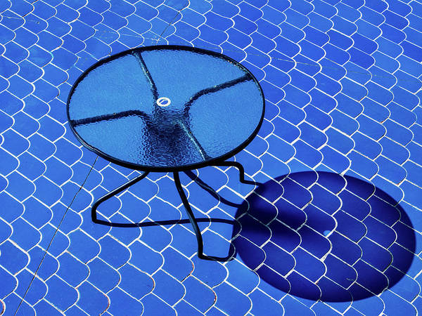 Table Photograph - Only Blue by Rolf Endermann