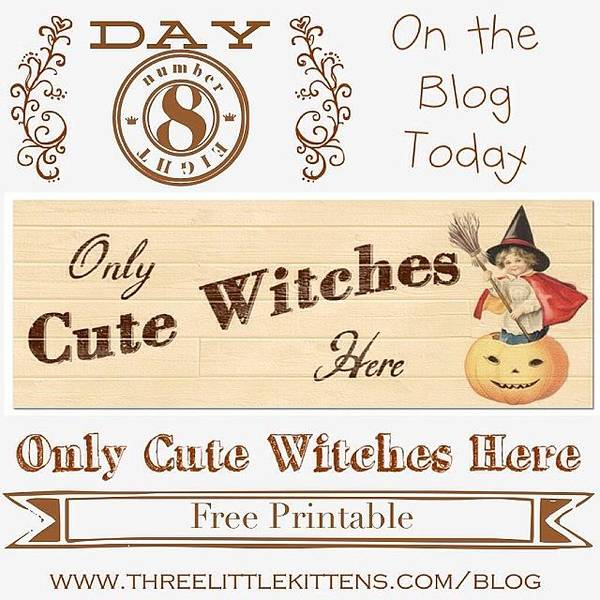 Holiday Wall Art - Photograph - Only Cute Witches Here #ontheblog by Teresa Mucha