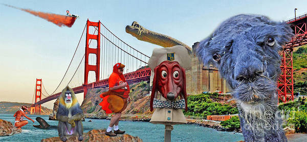 Outfit Digital Art - Only In The San Francisco Bay Area by Jim Fitzpatrick