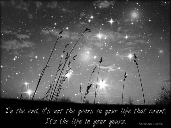 Quotation Photograph - Only The Stars And Me...in The End... by Marianna Mills