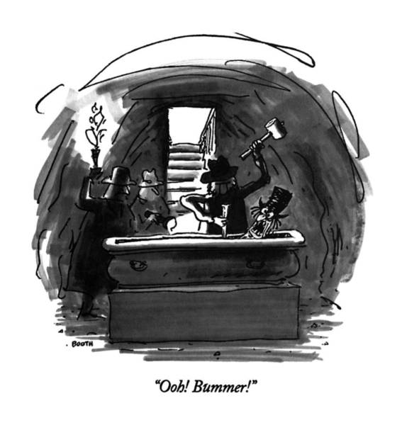 Pseudo Drawing - Ooh!  Bummer! by George Booth