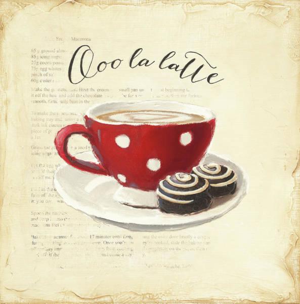Pastries Painting - Ooo La Latte by Emily Adams