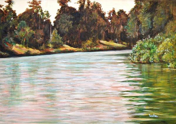 Usha Painting - Ooty Lake by Usha Shantharam