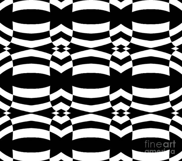 Digital Art - Op Art Black White Pattern No.139  by Drinka Mercep