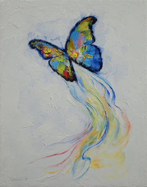 Changing Painting - Opal Butterfly by Michael Creese