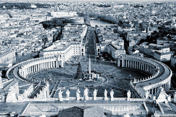 Wall Art - Photograph - Open Arms Of The Church - St Peter's Square by Mark Tisdale