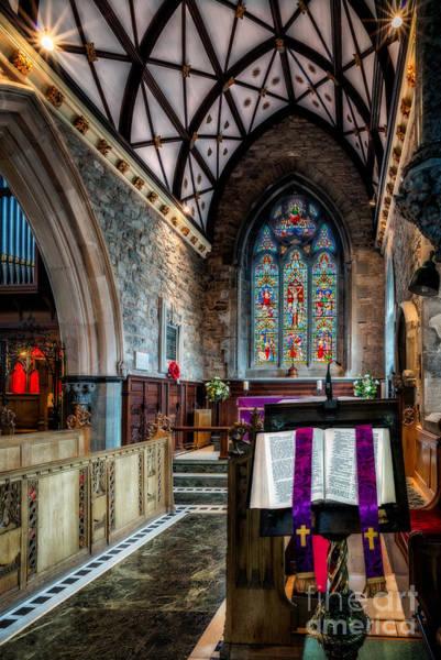 Wooden Church Wall Art - Photograph - Open Bible by Adrian Evans