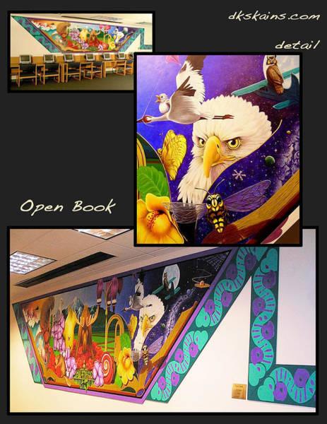 Trumpeter Swan Painting - Open Book by Dorinda K Skains