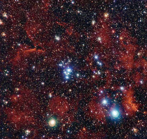 Wall Art - Photograph - Open Cluster Ngc 2367 by G. Beccari/european Southern Observatory/science Photo Library
