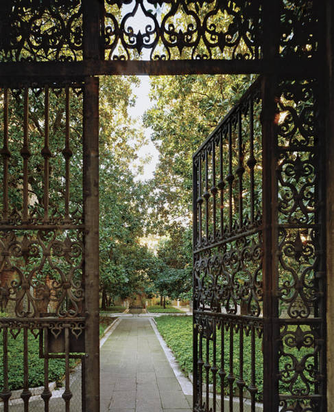 Gate Photograph - Open Gate And Garden Path by Durston Saylor