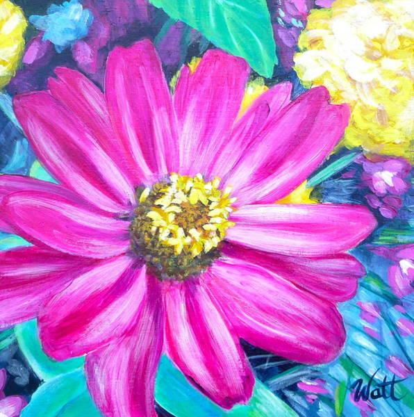 Osteospermum Painting - Open Mind by Tammy Watt