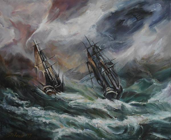 Shipwreck Digital Art - Open Sea - Dangerous Drift II by Stefano Popovski