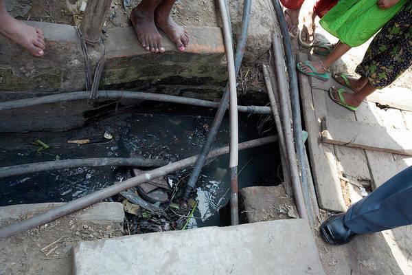 Flip Flops Photograph - Open Sewer by Adam Hart-davis/science Photo Library