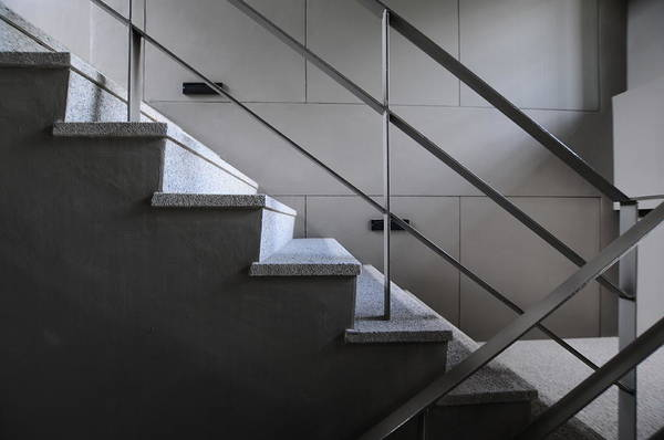 Open Stairwell In A Modern Building Art Print by Primeimages