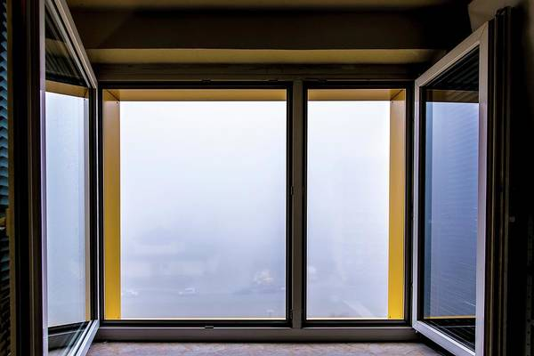 View Through Window Photograph - Open Window With Fog by Wladimir Bulgar/science Photo Library
