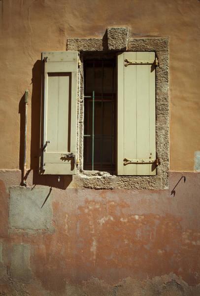 Photograph - Open Window Shutters by Maria Heyens