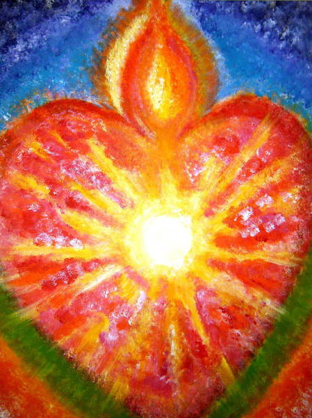 Guru Painting - Open Your Heart To Let God Out by Sister Rebecca Shinas