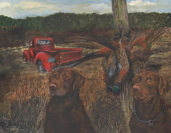 Old Chevy Truck Painting - Opening Day by Kathleen Kelly Thompson