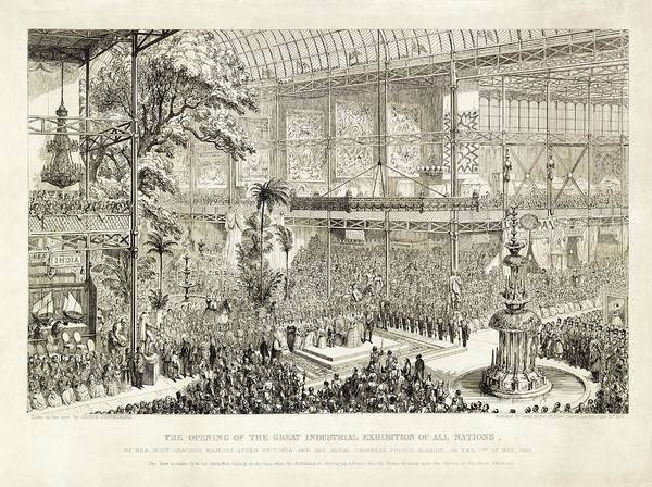 1851 Photograph - Opening Of The Great Exhibition Of 1851 by Library Of Congress