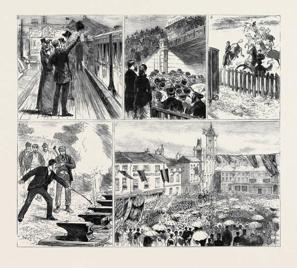 Wall Art - Drawing - Opening Of The Newbury And Didcot Railway 1 by English School