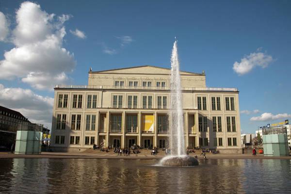 Plaza Photograph - Opera House And Fountain On Augustus by Dave Bartruff