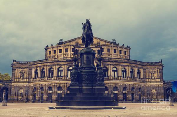 Wall Art - Pyrography - Opera House In Dresden by Jelena Jovanovic