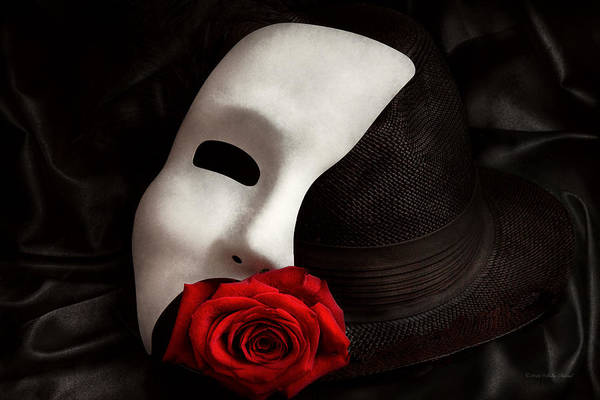 White Rose Photograph - Opera - Mystery And The Opera by Mike Savad