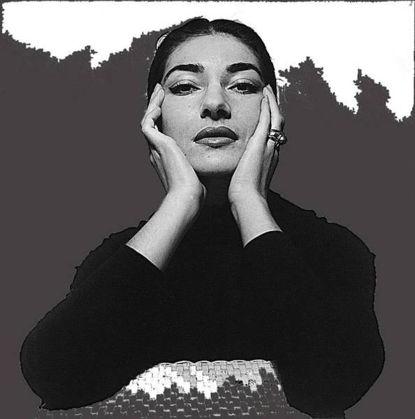 Opera Singer Maria Callas Cecil Beaton Photo No Date-2010 Art Print